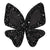Black Big Butterfly Hairclip