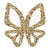 IllyTrilly Gold Big Butterfly Hairclip