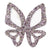IllyTrilly Pink Big Butterfly Hairclip