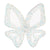 IllyTrilly White Big Butterfly Hairclip