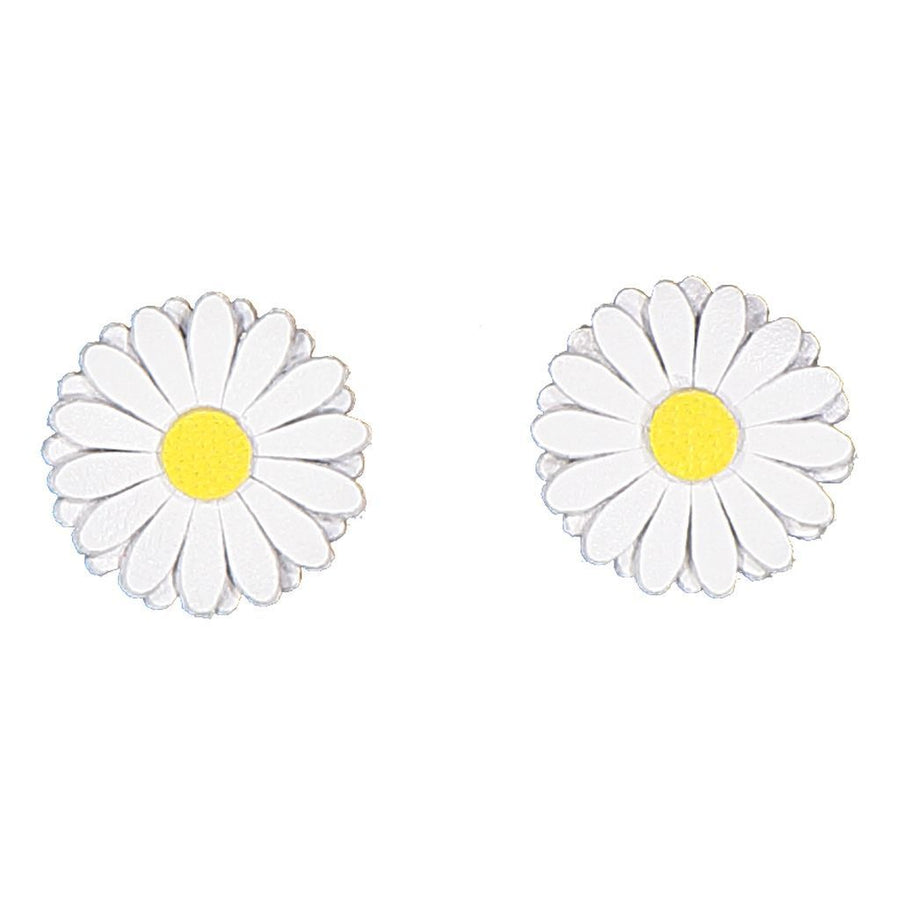 IllyTrilly White Daisy Earrings