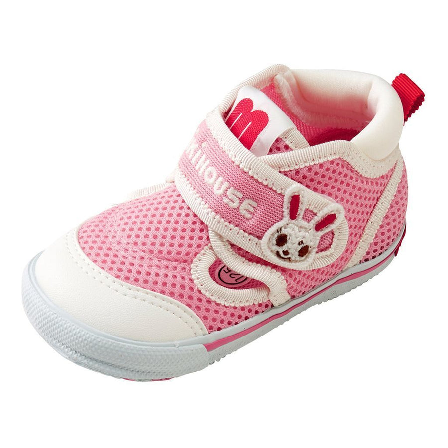 Miki House Pink Double Russell Mesh Shoes