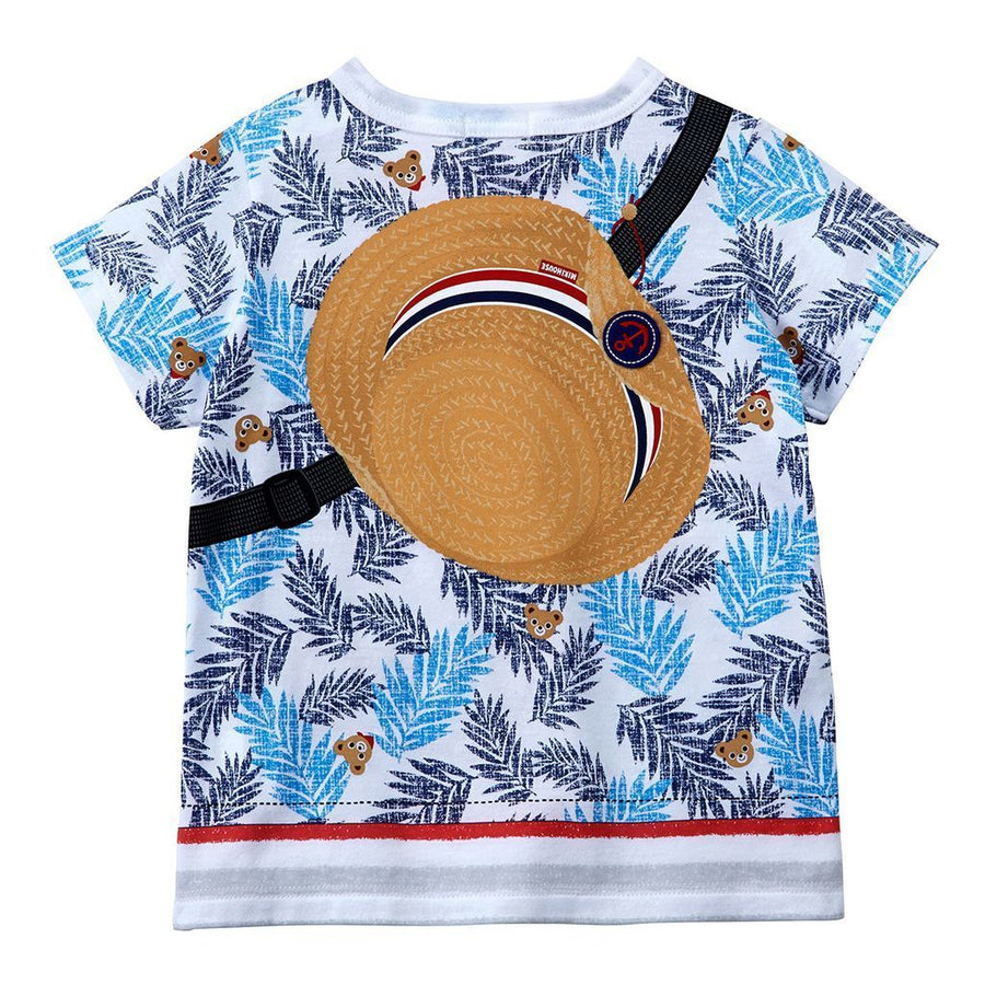 Miki House Blue Palm Leaves T-Shirt