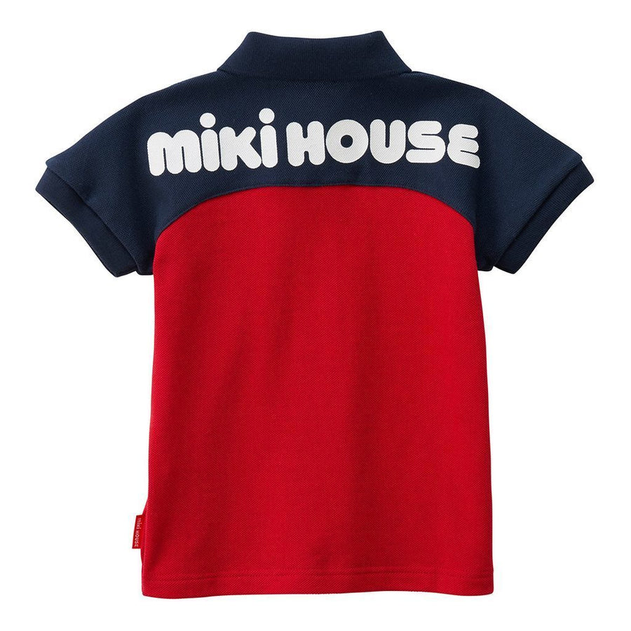 Miki House Navy & Red Polo Shirt