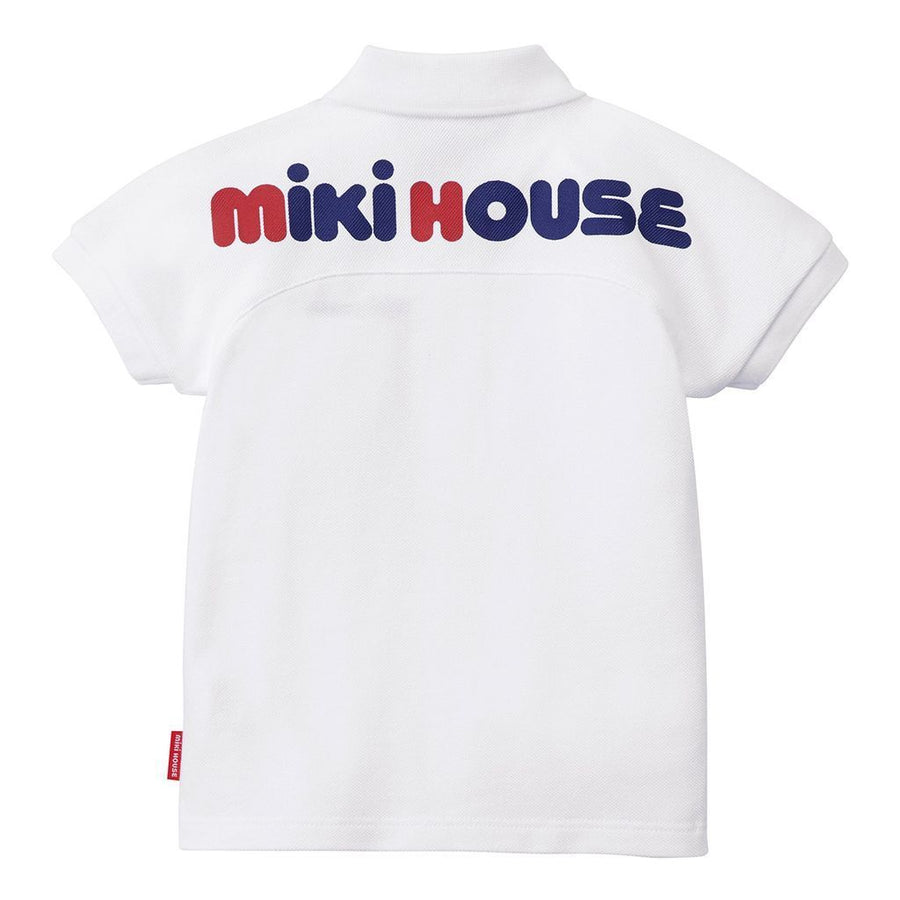 Miki House White Polo Shirt