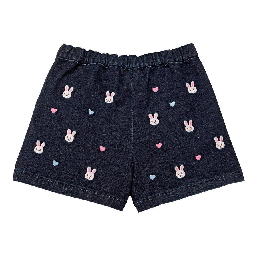 Miki House Indigo Denim Shorts