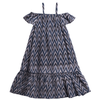 BLUE ROSELYN ZIGZAG DRESS