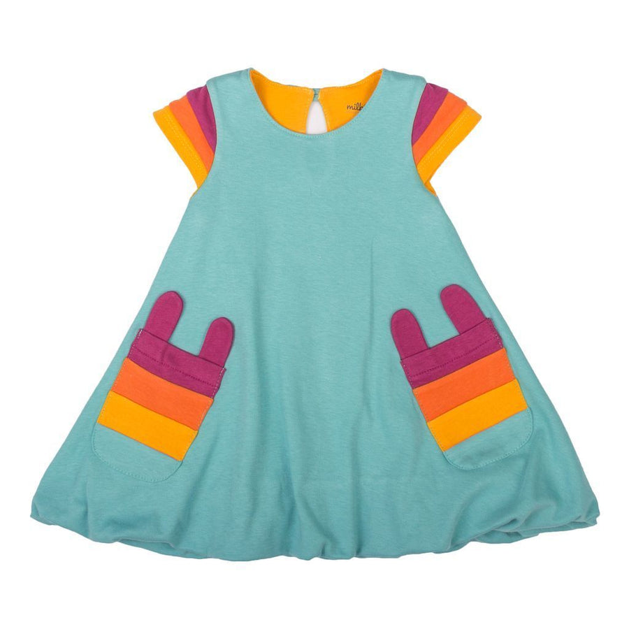 kids-atelier-milktology-kid-baby-girl-teal-rainbow-sleeve-bubble-dress-milk348