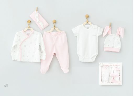 Andy Wawa Pink Little Rabbit Baby Cottons 5 PC Set