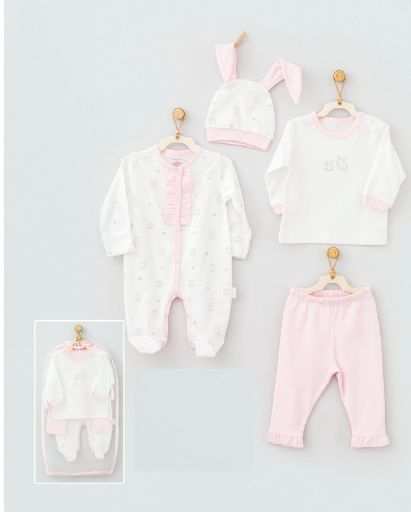 Andy Wawa Little Rabbit Baby Cottons 4 PC Set