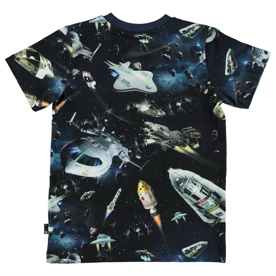 Molo Dark Blue Space Traffic T-Shirt