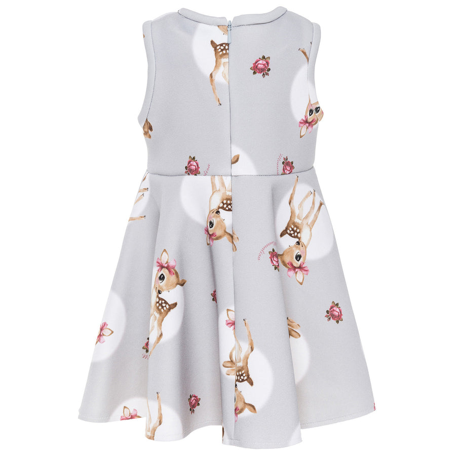 Monnalisa Gray Deer Dress