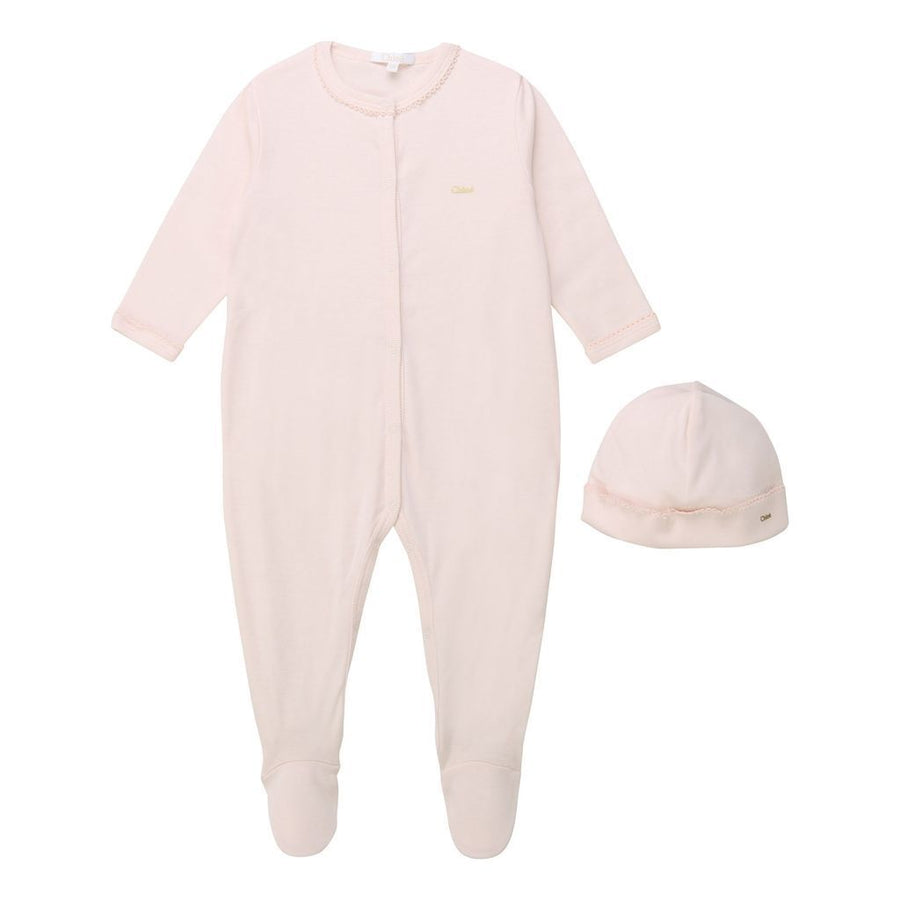PINK PAJAMAS + HAT SET