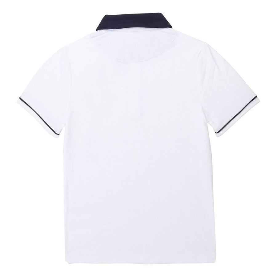 White Short Sleeve Polo