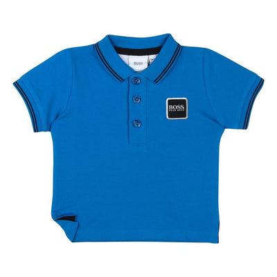 Boss Electric Blue Short Sleeve Polo