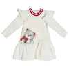 Monnalisa White Baby Bear Dress