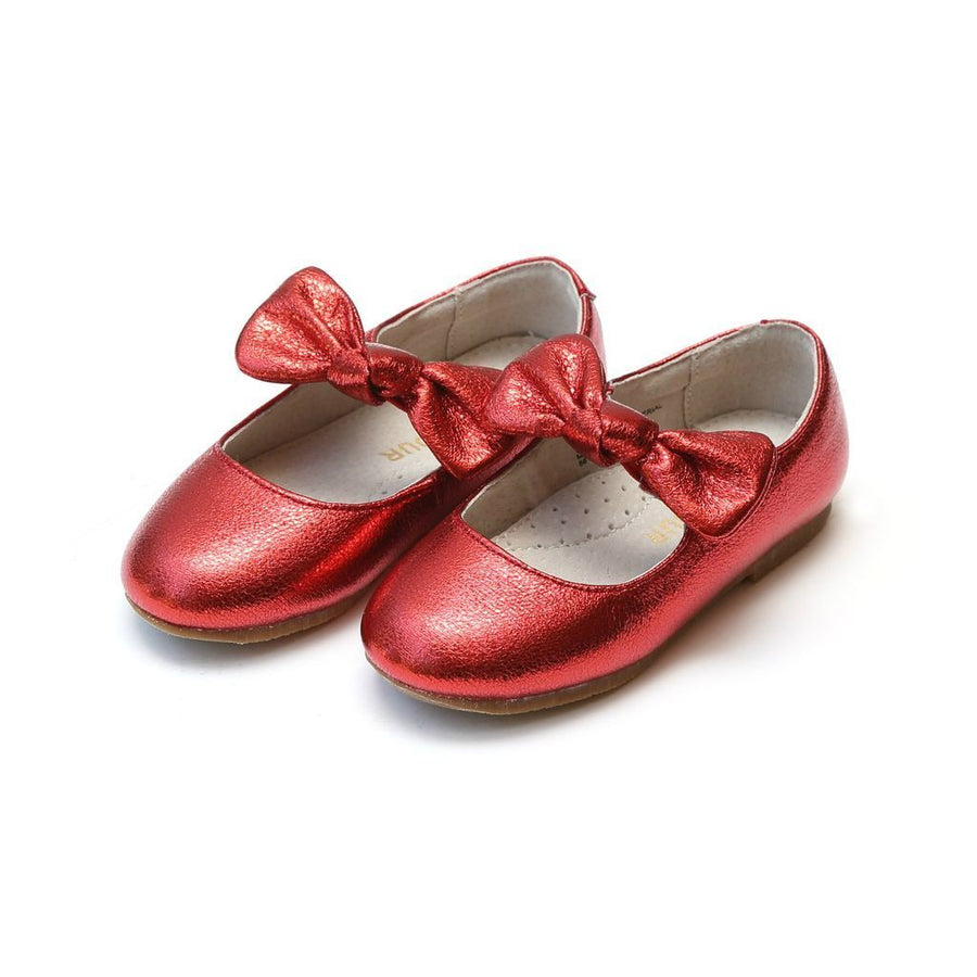 lamour-red-celia-knotted-bow-flat-436rd