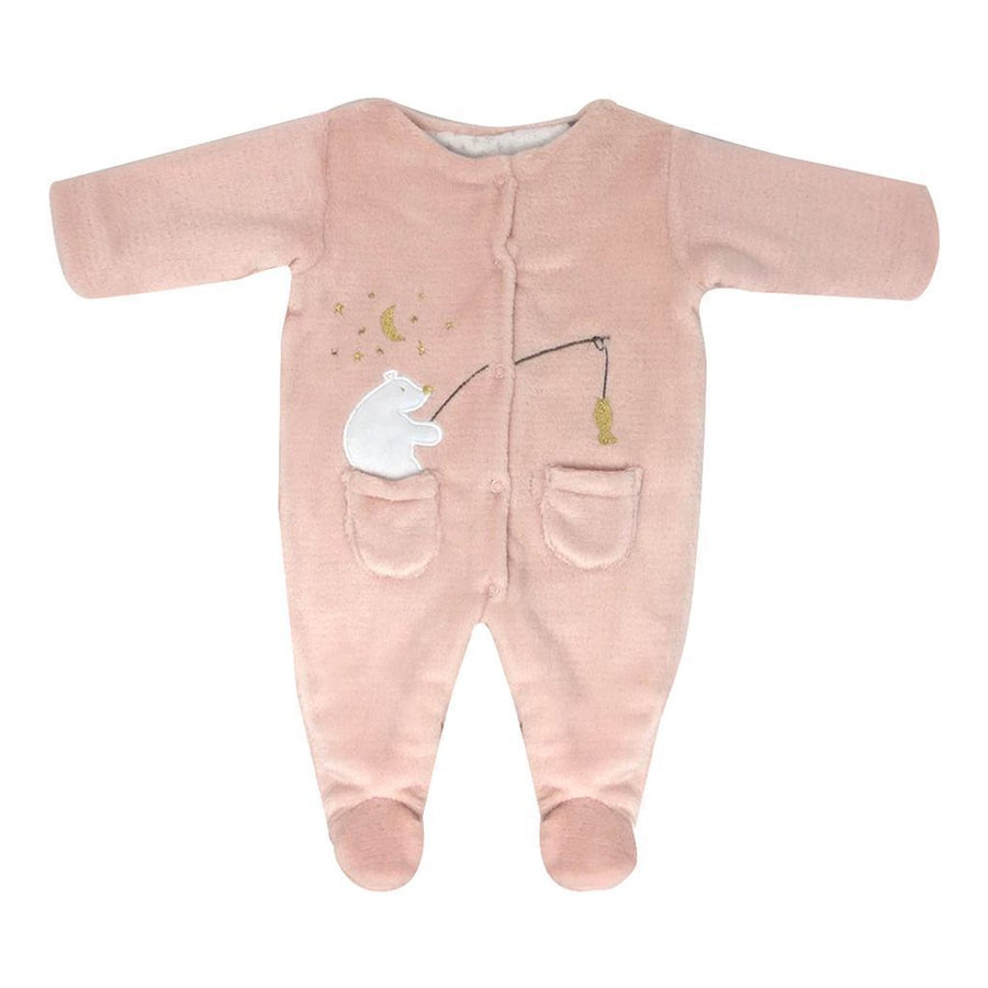 Pale Pink Fishing Polar Bear Bodysuit