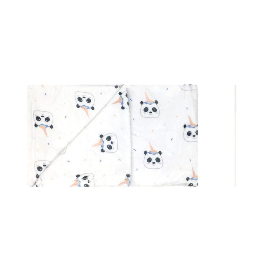 MILKTOLOGY-MILK513-PANDA BEAR & ICE CREAM BOY BLANKET-PANDA BEAR PRINT