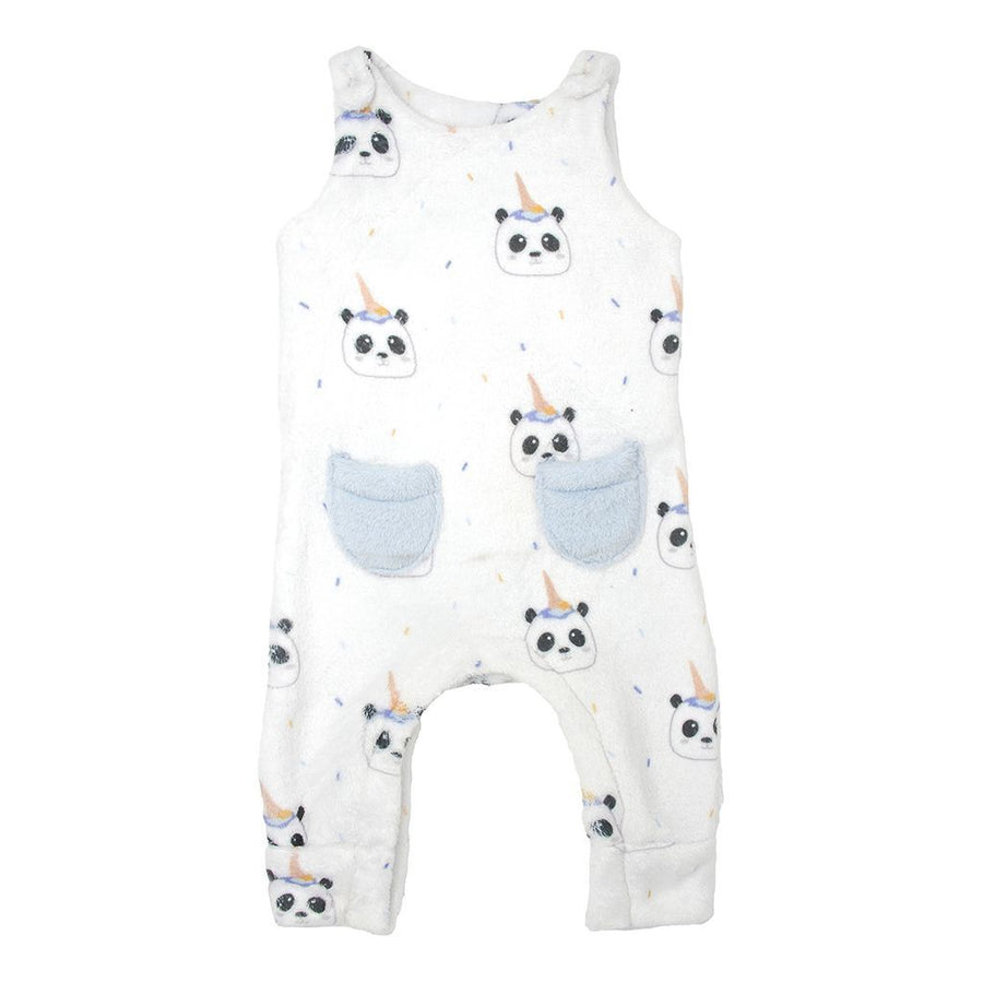 MILKTOLOGY-MILK469-PANDA BEAR ROMPER-PANDA PRINT/POWDER BLUE