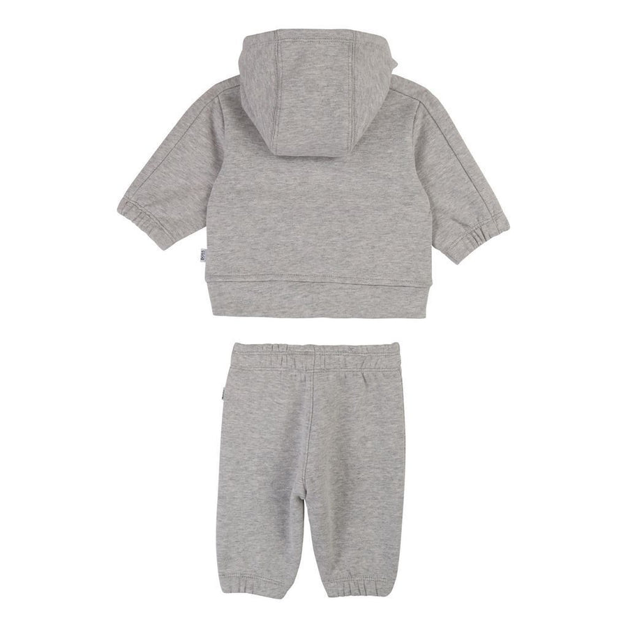 BOSS-TRACK SUIT-J98262-A07 LIGHT GREY MARL