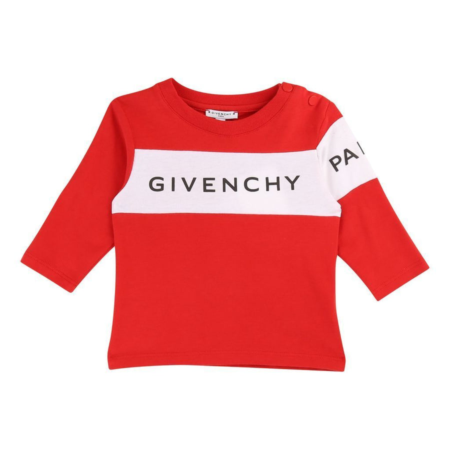 GIVENCHY-LONG SLEEVE T-SHIRT-H05090-991 BRIGHT RED