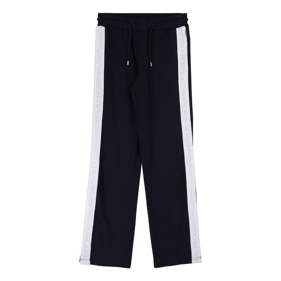 Boss Navy Soft Trousers