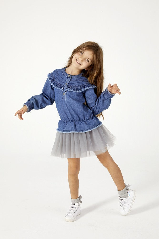 Blue Denim Tutu Dress