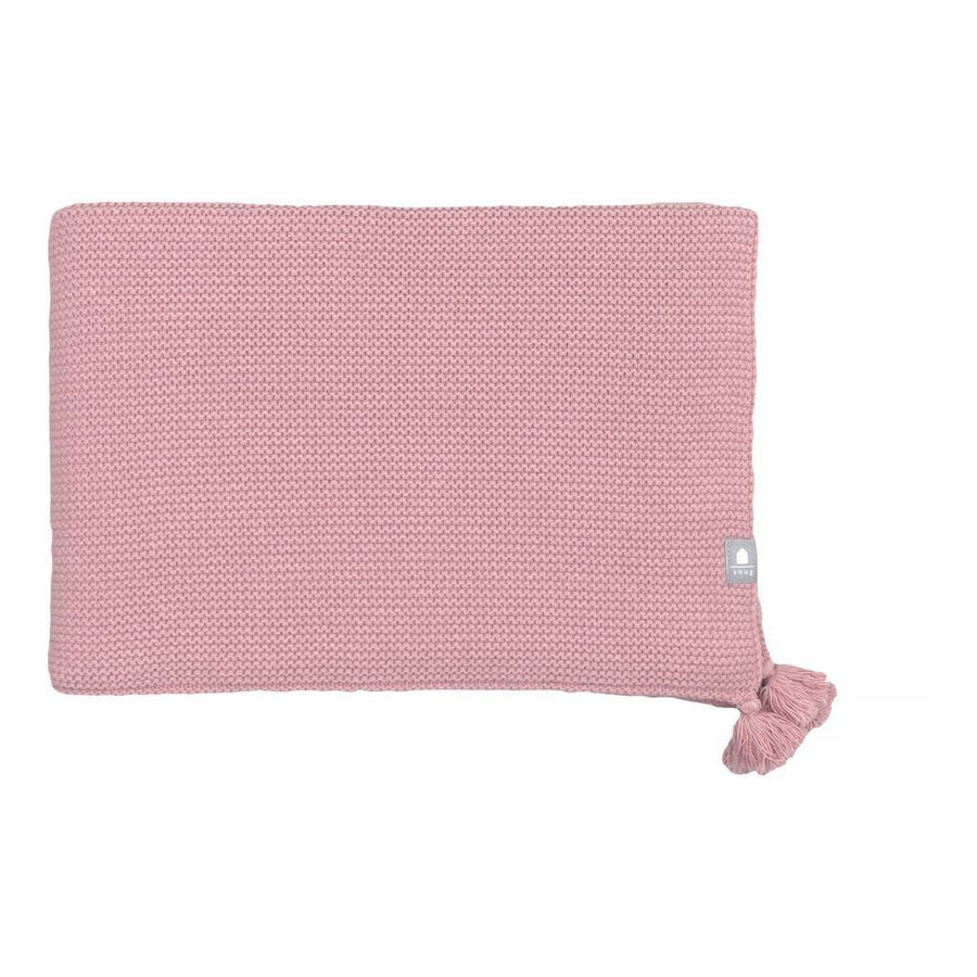 SNUG PINK KNITTED BLANKET