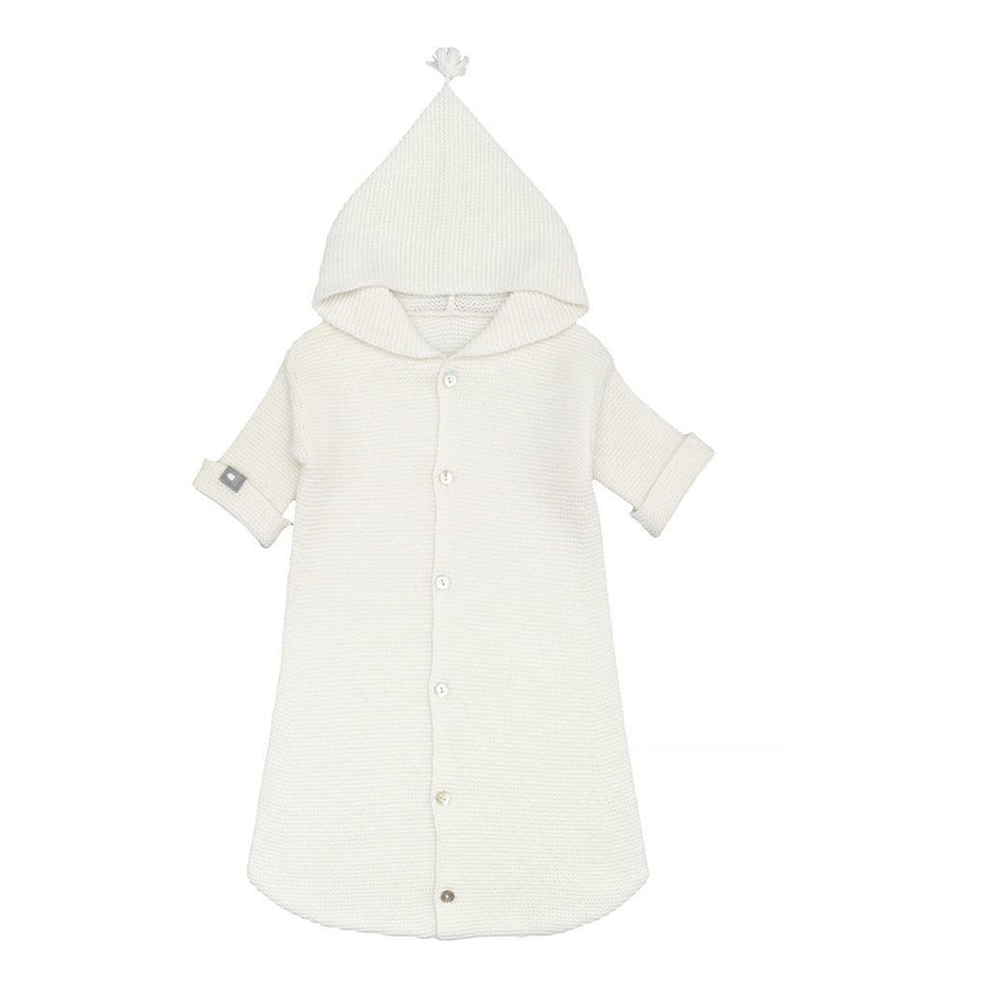 SNUG OFF-WHITE HOODED PONCHO