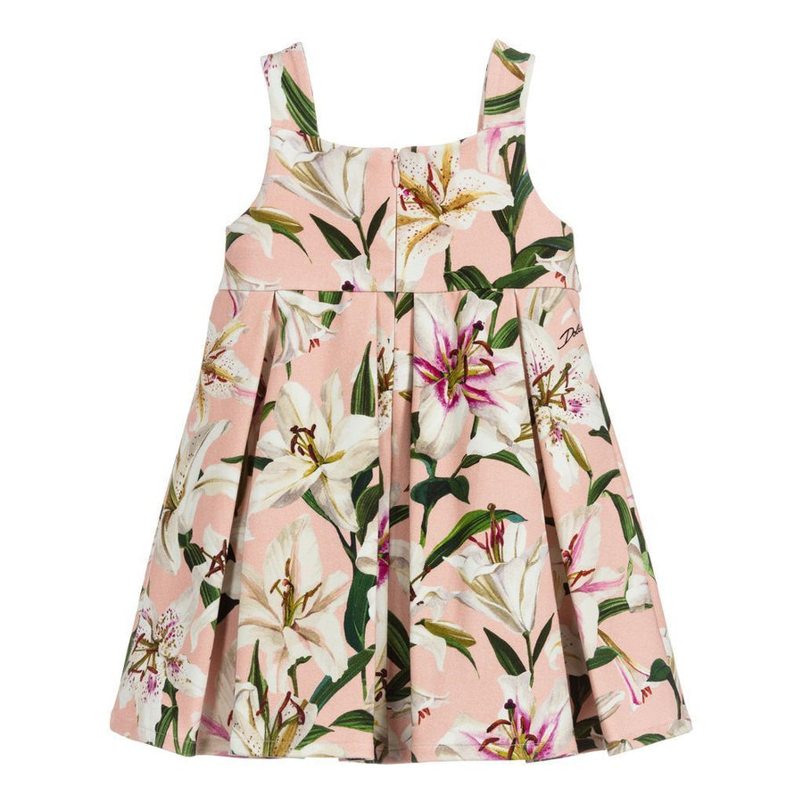 Dolce & Gabbana Pink Lily Dress+Bloomers