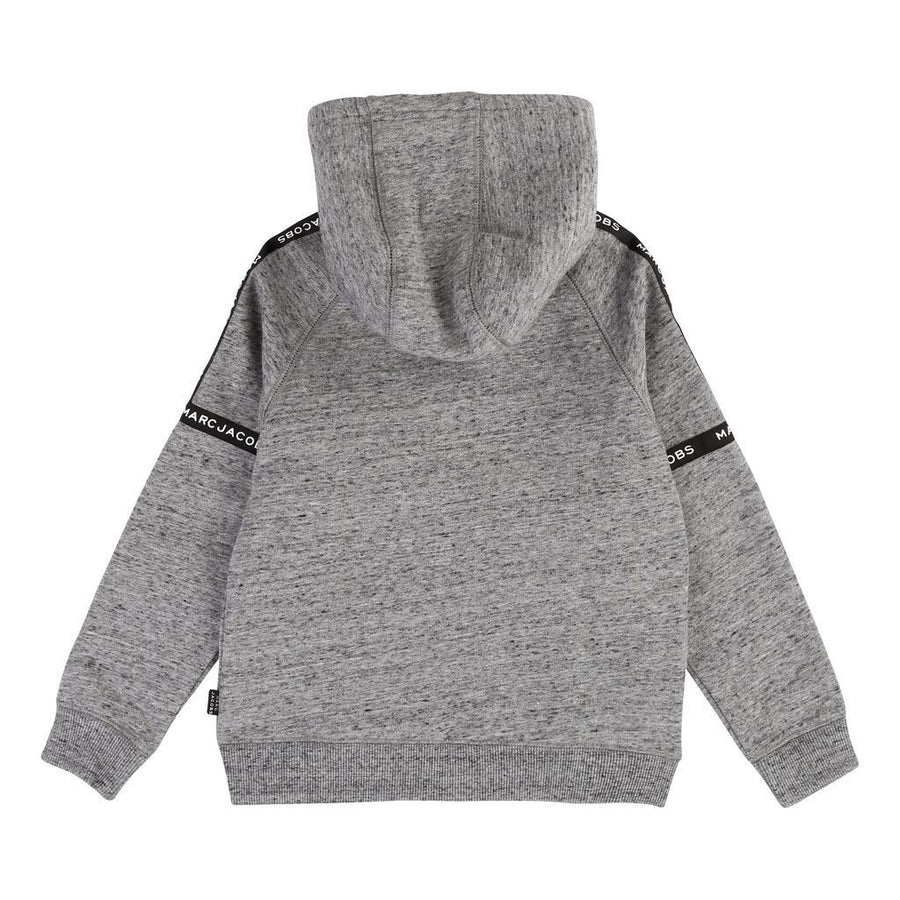 little-marc-jacobs-gray-marl-hooded-cardigan-w25378-a22
