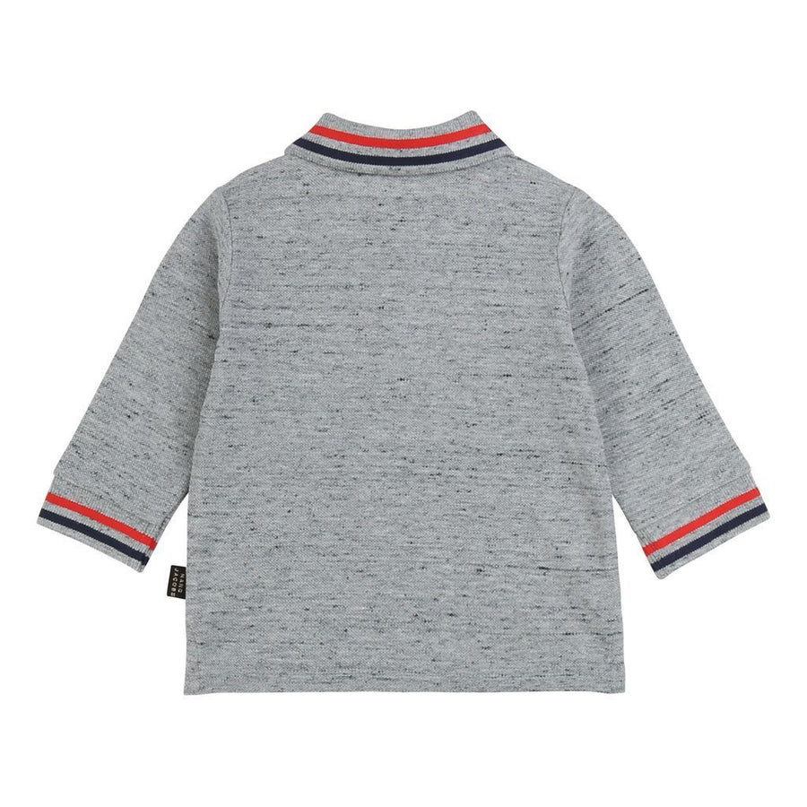 Little Marc Jacobs Gray Long Sleeve Polo Shirt