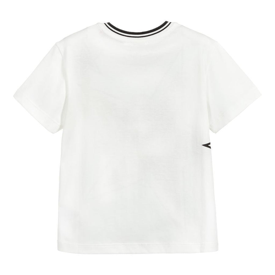DOLCE & GABBANA OFF WHITE STAR LOGO T-SHIRT