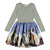 MOLO GRAY PATCHWORK HORSES DRESS