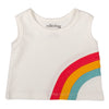 WHITE RAINBOW TANK TOP
