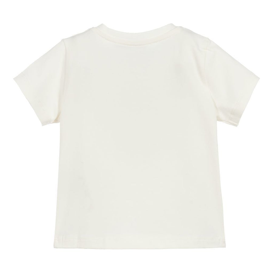 IVORY EMBROIDERED LOGO T-SHIRT
