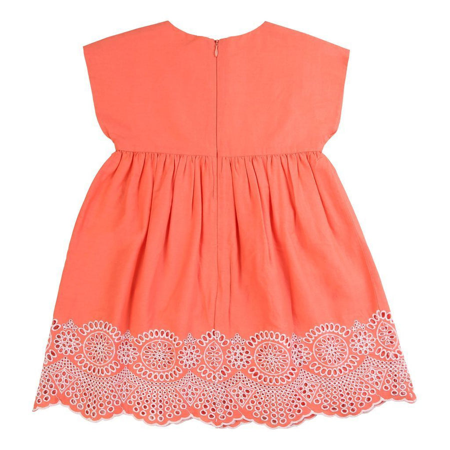 carrement-beau-orange-embroidered-dress-y12203-44p