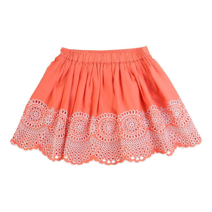 carrement-beau-orange-embroidered-skirt-y13078-44p