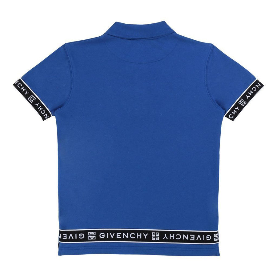 Blue Logo Tape Polo Shirt