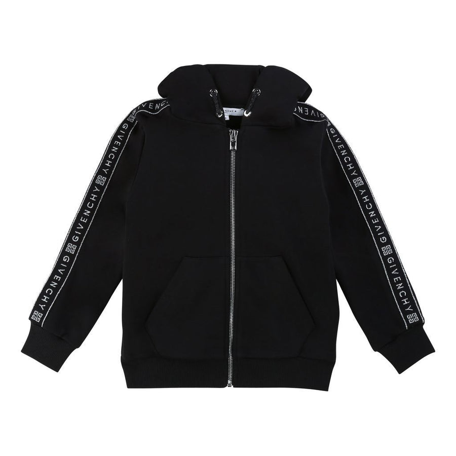 Black Logo Tape Hooded Sweatshirt