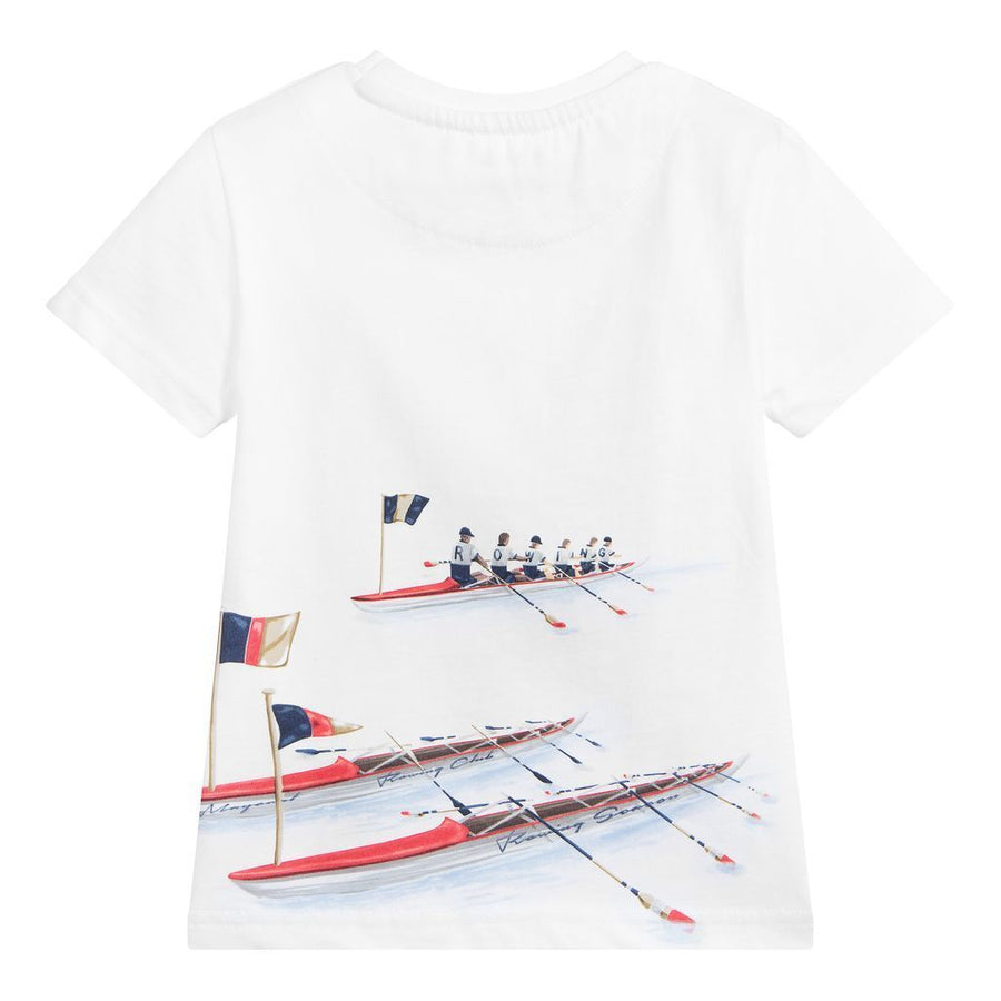 MAYORAL-3060-39-S/S ROWING SEASON T-SHIRT-WHITE