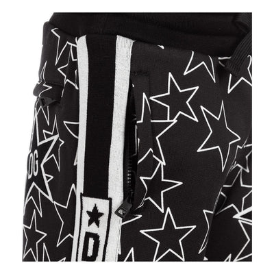 BLACK STAR JOGGING BOTTOMS