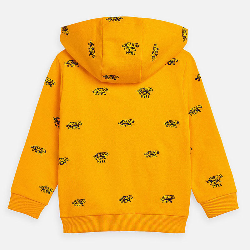 MAYORAL-3446-10-EMBROIDERED HOODIE-SUNFLOWER