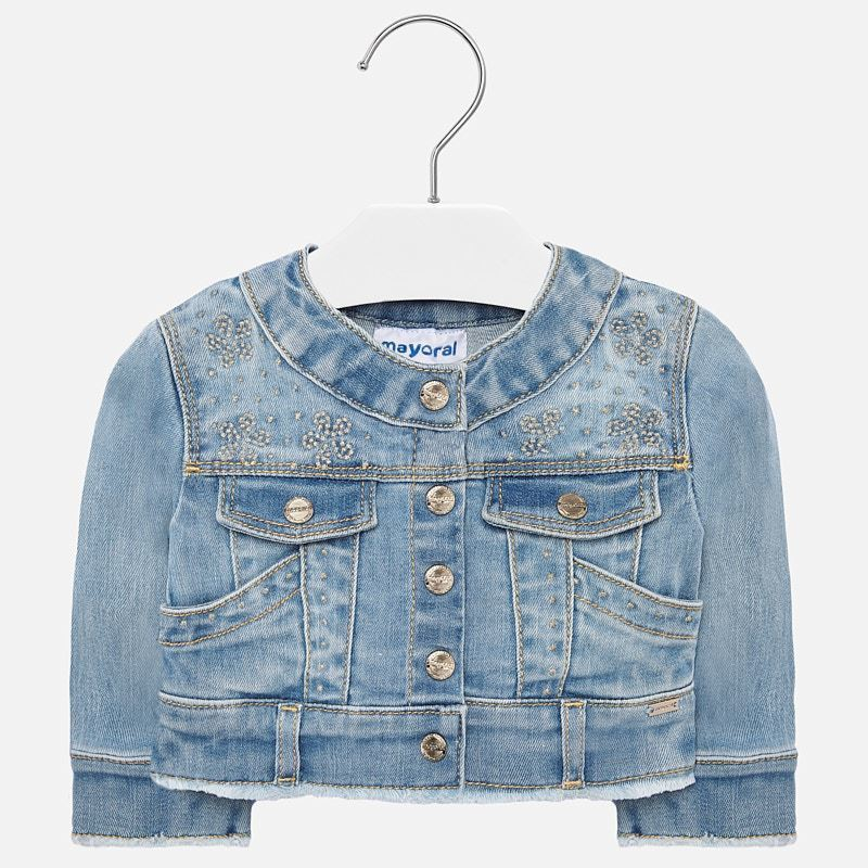 MAYORAL-1471-10-DENIM JACKET-BLEACHED