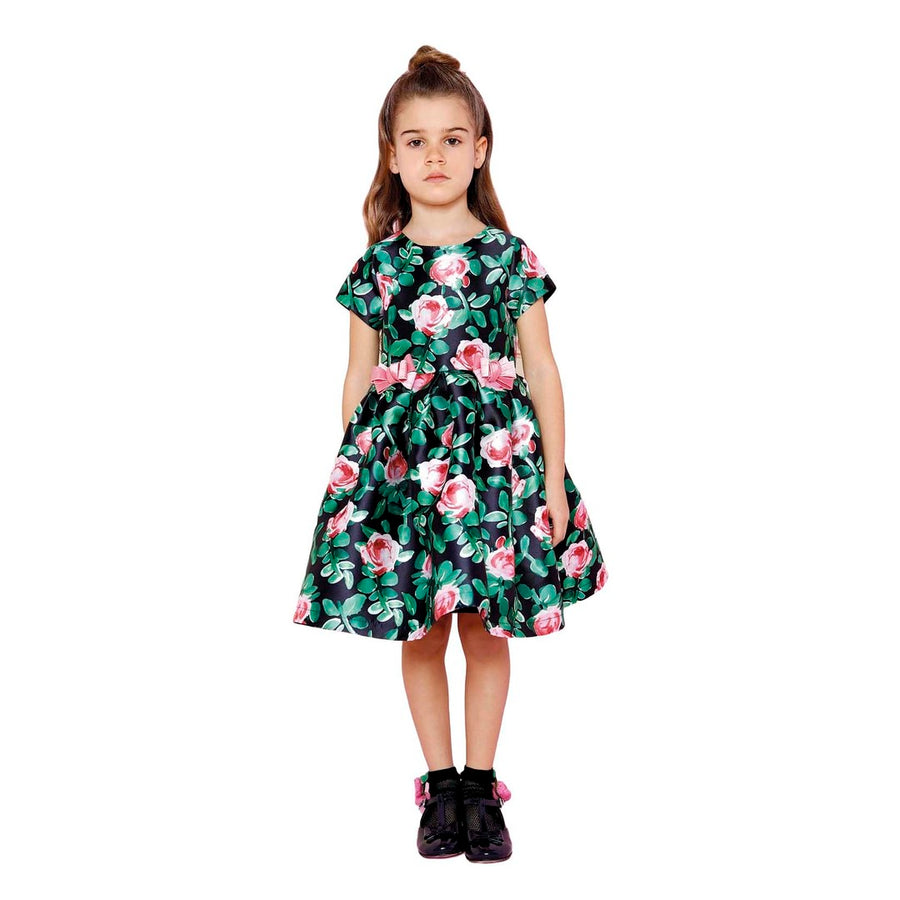 FOREST GREEN FLORAL DRESS