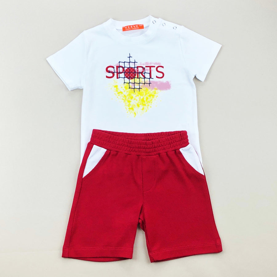White Sports Outfit Set