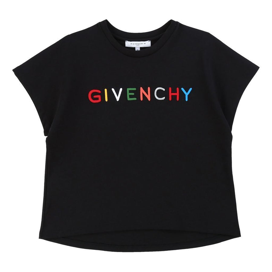 kids-atelier-givenchy-kids-children-girls-black-multi-logo-t-shirt-h15155-09b