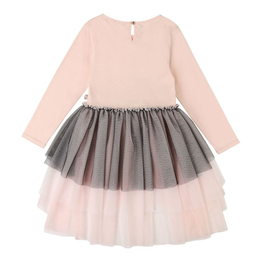 BLUSH-DRESS-U12612-S10 PINK CHARCOAL GREY