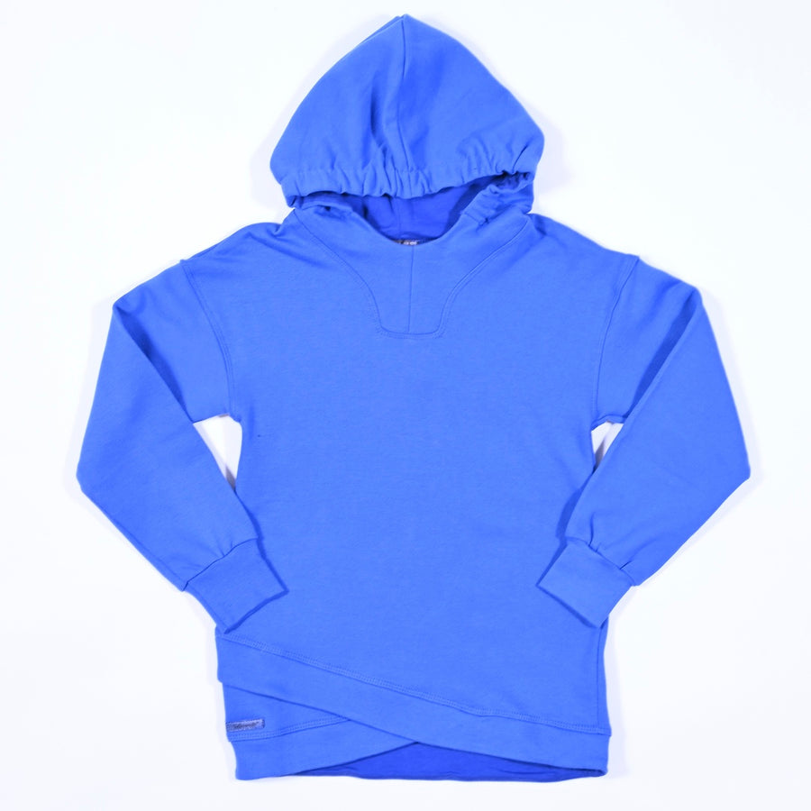 ELECTRIC BLUE HOODED TOP